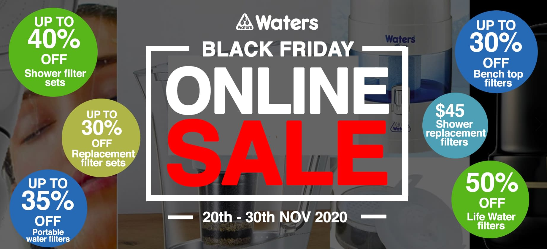 waters Black Friday sale Home